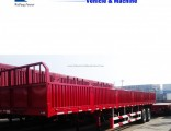 China Manufacture 3axle Side Wall Fence Cargo Trailer for Sale