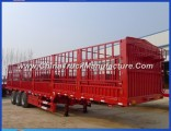4 Axles 70 Ton Cargo Fence Trailer with Axle Lift