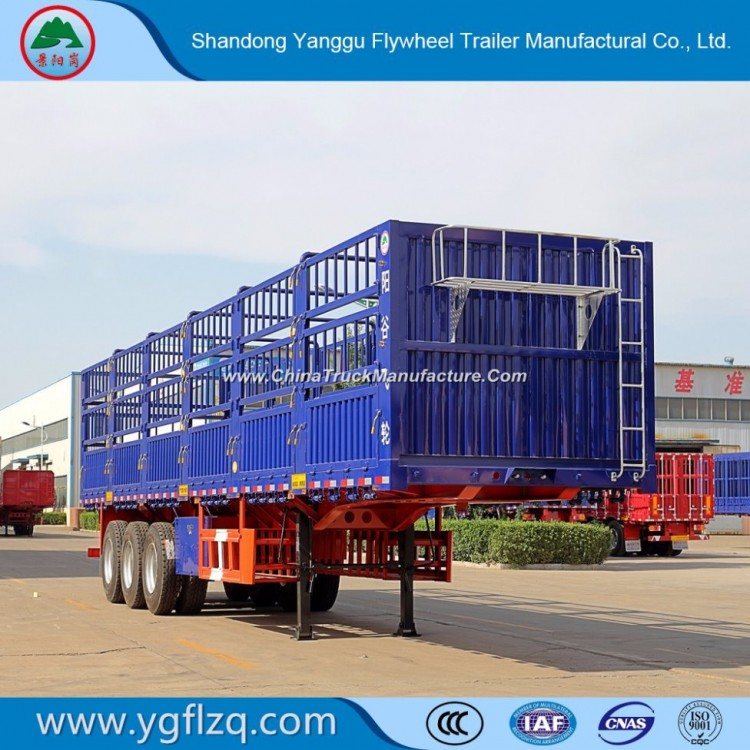 China Factory Sugar Cane/Tree Seedlings Transport Fence Stake Semi Trailer