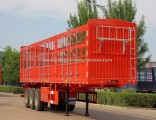 Flywheel Cattle/Horse/Sheep Transport 3axles Semi Trailer with Pile and Fence