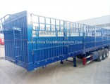 Sugar Cane Livestock Bulk Cargo Transport 3 Axles Fence Trailer