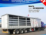 3 Axles 40ft Flatbed Fence Side Curtain Semi-Trailer with Tarpaulin
