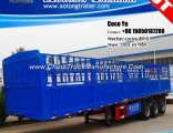 3 Axles 60tons Store House Bar Fence Semi Trailer