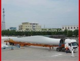 2 Axles 60tons Heavy Duty Hydraulic Extendable Wind Blade Semi Trailer