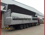 Heavy Duty Aluminum Alloy Hydraulic Stretch Box Side Open Wing Van Semi Trailer