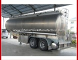 3 Axle Aluminum Alloy Tank Body Tandem Fuel Oil Tank Semi Trailer for Sale