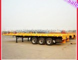 Tri Axle 60 Tonnage 40FT Flatbed Semi-Trailer for Container