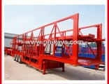 2 Axles Open Frame Car Transporter Semi Trailer (6 cars)