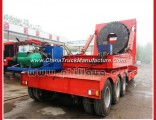Tri-Axle Two-Level-Drawing Wind Blade Extendable Flat Bed Semi Trailer