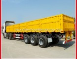 Multipurpose 4 Axles 80ton Container Cargo Semi Trailer with Open Side Walls