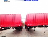 3axle Flatbed Cargo Semi/Truck Trailers with Side Wall