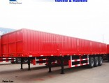 3 Axles Side Wall Cargo Truck Semi Trailer for Sale