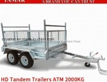 ATM 2000kg Box Trailer with Cage/Dump Trailer/Tipper Trailer