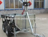 Small Farm UTV Tow Winch Carrier Trailer