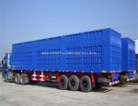 3 Axle 50 Tons Heavy Duty Van Truck Semi-Trailer with Carbon Steel