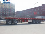 2018 40FT Flatbed Container Trailers/Platform Trailer for Sale