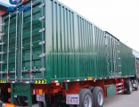 China Manufacture 3axle Dry Van Type Cargo Semi Trailer