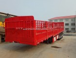 3 Axle Flatbed Cargo Full Trailer for Asia and Africa