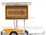 Solar Traffic Warning Signs Vms Screen Display Colour Mobile Vms Trailer