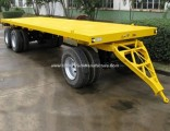 Factory Sale 3 Axles 2axles 20ton Faltbed Cargo Full Trailer
