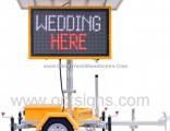 Australian Standard Portable Traffic Data Signs Message Boards Mobile Amber Vms Trailer