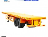 3axles Side Panel Flat Bed Semi Trailer with Container Locks
