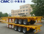 Cimc Chinese New Flatbed Trailer Container Carrier Sale in Dubai
