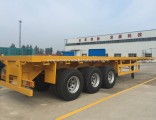 BPW/Fuwa 3 Axles 40FT Flatbed Container Semi Trailer