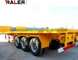 2 Axle Flatbed Container Trailer for 20FT 40FT Container Trailer