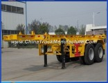 ISO China Cheap Cimc 2 Axles 40ft Container Skeletal Trailer