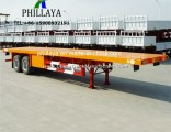 2 3 4 Axle 20FT 40FT Container Transport Flatbed Truck Semi Trailer