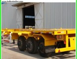 Steel Material 60ton 3 Axle 40FT Container Skeletal Semi Trailer with Container Locks