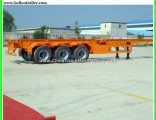 3 Axles 40FT Skeleton Container Flatbed Cargo Trailer