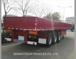 60t Heavy Tri-Axle Duty Trailer Container Dropside Trailer for Truck