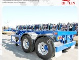 Double Axles 20FT Container Trailer with Twist Locks