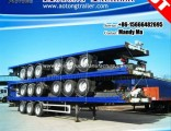 Tri-Axle 48FT Container Flatbed Semi Truck Trailer
