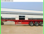 20FT/40FT/45FT Container Transport Trailer Flatbed Truck Trailer with Air Bag Suspension