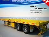 2/3 Axis 30ft Container Transporting Flat Deck Truck Trailer