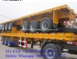 40FT Tri-Axle Flatbed Container Truck Semi Trailer Sale