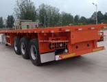 3 Axle Flatbed Truck Trailers Platform Container Semi Trailer for Sale