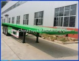 Tri Axle 40ft Flat Deck Trailer for Container Transport Sales