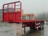 Ce High Strength Steel Flatbed Turck Semi Trailer with 3mm Checkered Platform