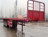 High Strength Steel Flatbed Truck Semi Trailer with 3mm Checkered Platform