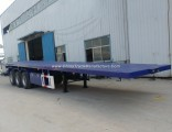 Factory Price 3 Axle 40FT Flatbed Container Semi Trailer for Sale