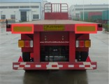 China Manufacture 3 Axle 50ton Capacity Flatbed Semi Trailer with Twist Lock