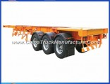Skeleton Tandem Container Chassis Trailer with 12wheel 40ton