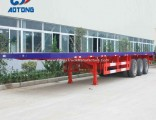 Hot Sale 3axle Flatbed Container Carrier Trailers (skeleton chassis optional)