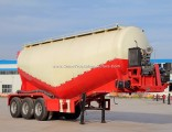 Customed 3 Axle 40m3-70m3 Tanker Bulk Cement Powder Tank Semi Trailer with V-Shape