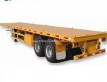 3 Axles 40FT Skeleton Skeletal Flatbed Container Semi Trailer