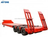Heavy Duty 3 Axle 4 Axle Low Bed Lowboy Semi Trailer Container Trailer